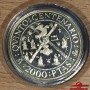 SPAIN COINS. 5th CENTENARY OF THE DISCOVERY OF AMERICA PESETAS 5 SILVER COINS 1990. WITH CASE