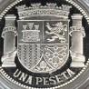SPAIN 925 SILVER COIN REPLICA 1 PESETA SPANISH REPUBLIC OF 1933. HISTORIA DE LA PESETA COLLECTION