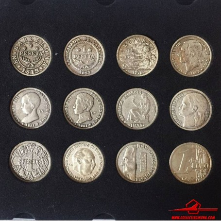 COINS COLLECTION PESETA TO THE EURO. LA VANGUARDIA NEWSPAPER