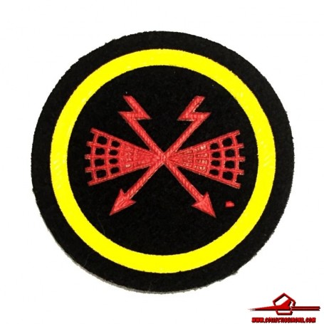 USSR CCCP VINTAGE SEWING PATCH SOVIET NAVY SIGNALS & RADIO EQUIPMENT SPECIALIST FOR NCOs (USSR-P29)