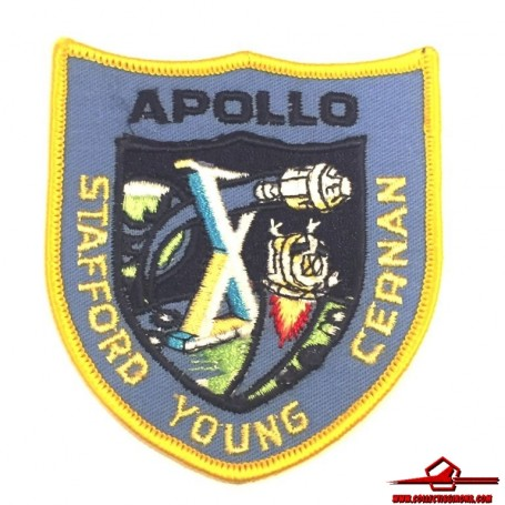 NASA MISSION APOLLO X, STAFFORD - YOUNG - CERNAN EMBROIDERED 3,5x3 INCHES PATCH  (USA-P7)