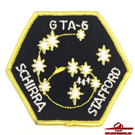 "NASA GEMINI PROGRAM GTA-6 SCHIRRA - STAFFORD OFFICIAL SPACE EMBROIDERED PATCH 3"" (USA-P15)"