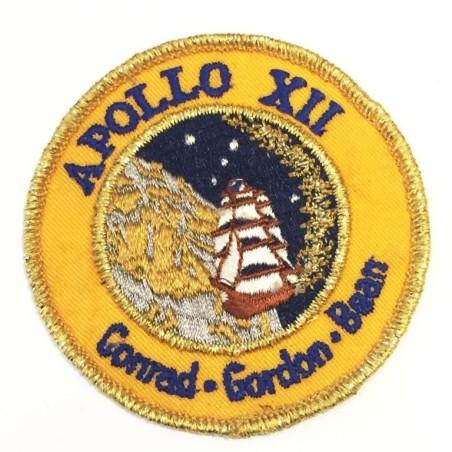 """NASA PROGRAM APOLLO XII, CONRAD - GORDON - BEAN. OFFICIAL SPACE EMBROIDERED PATCH 3"""" (USA-P23)"""