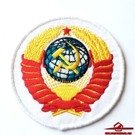 USSR CCCP VINTAGE SEWING PATCH EMBROIDERED SOVIET MILITARY EMBLEM OF THE USSR (Large) (USSR-P33)