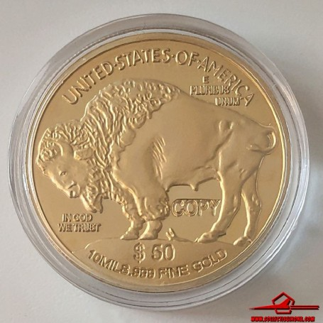 COMMEMORATIVE TOKEN UNITED STATES OF AMERICA 50 DOLLARS. SOUVENIR COLLECTION