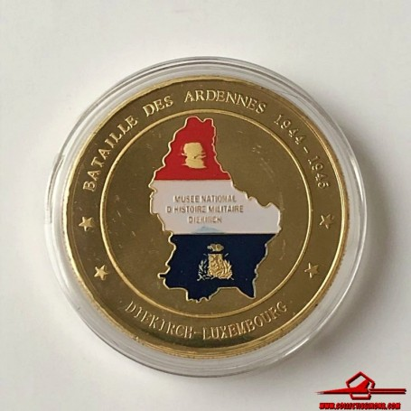 COMMEMORATIVE TOKEN BATTLE OF THE BULGE (MILITARY HISTORY NATIONAL MUSEUM, LUXEMBOURG), 1944-45. SOUVENIR COLLECTION
