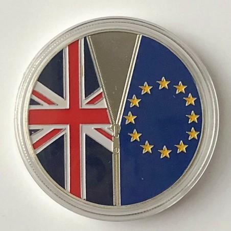 COMMEMORATIVE TOKEN BREXIT, BRITISH EXIT OF THE EUROPEAN UNION, JUNE 23, 2016. SOUVENIR COLLECTION