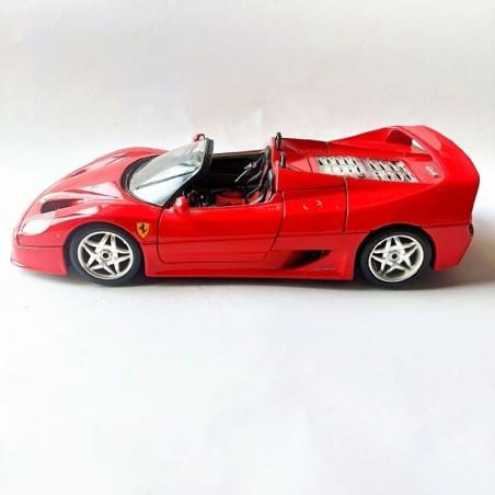 FERRARI F50 RED 1995. BURAGO COLLECTION. 1:18 SCALE