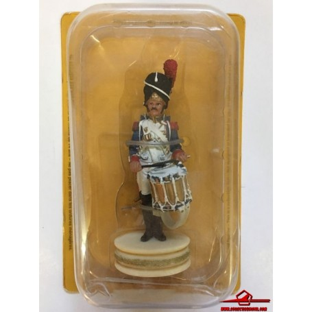 Napoleon Chess Altaya NAC009. Drummer of Imperial Guard Grenadiers. White pawn. With Blister