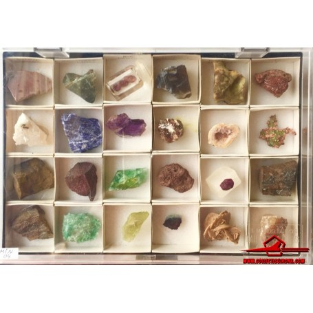 24 MINERALS FROM THE WORLD OF MINERALS COLLECTION. ORBIS FABBRI (MIN-04)