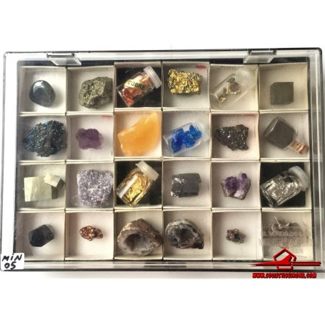24 MINERALS FROM THE WORLD OF MINERALS COLLECTION. ORBIS FABBRI (MIN-05)