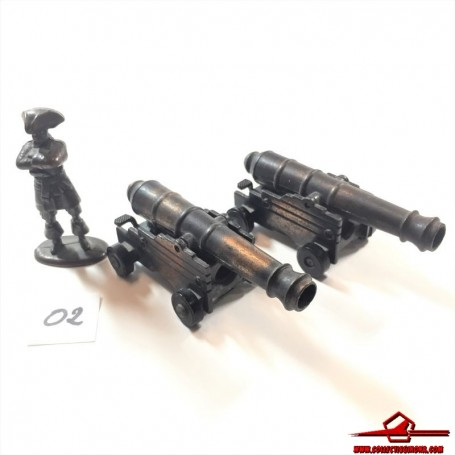 COLLECTIBLE VINTAGE PENCIL SHARPENER. DIECAST 2 NAPOLEONIC CANNONS AND SOLDIER. PLAYME