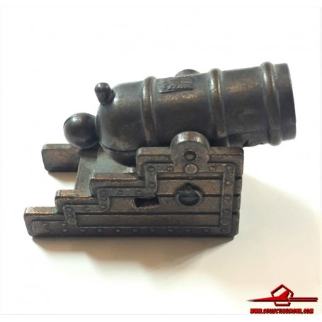 COLLECTIBLE VINTAGE PENCIL SHARPENER. DIECAST CANNON. PLAYME