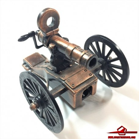 COLLECTIBLE VINTAGE PENCIL SHARPENER. DIECAST MINIATURE ARMY FIELD CANNON. MADE IN CHINA