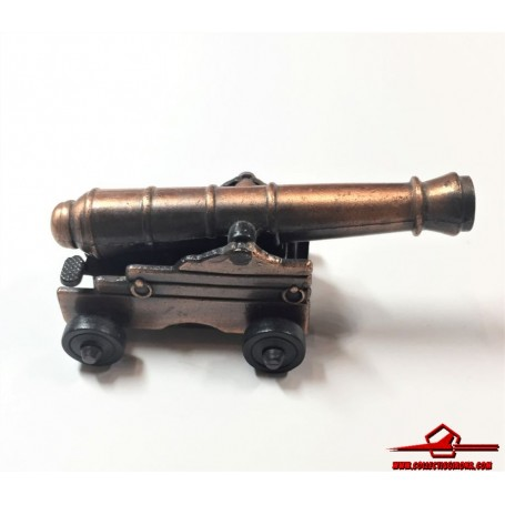 COLLECTIBLE VINTAGE PENCIL SHARPENER. DIECAST MINIATURE NAVAL CANNON. MADE IN CHINA