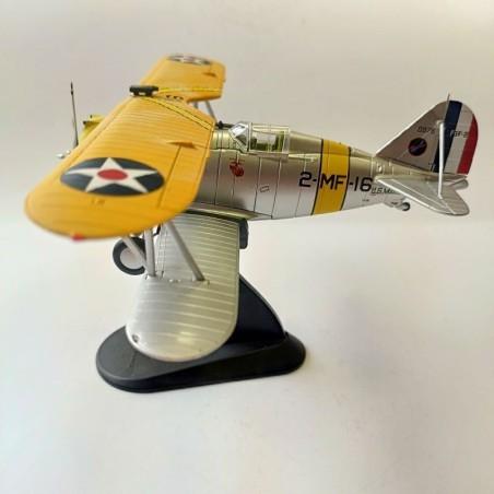 Hobby Master 1:48 Air Power Series HA7302 Grumman F3F-2 Diecast Model USMC VMF-2, Robert Galer, USS Saratoga, 1940