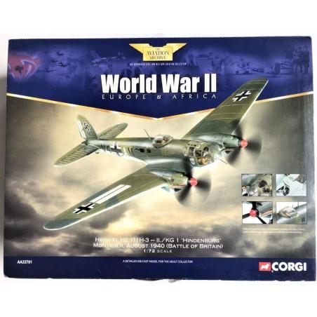 Corgi Aviation Archive Collector Series AA33701 Heinkel He 111H-3 Luftwaffe II./KG 1, Montdidier France, Battle of Britain 1940